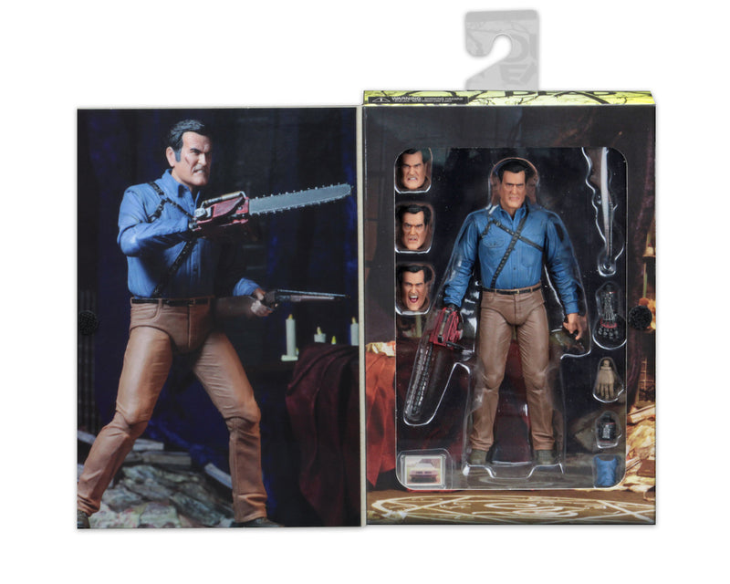 "This is an Ash vs Evil Dead 7"" Intimate NECA action figure inside of box."