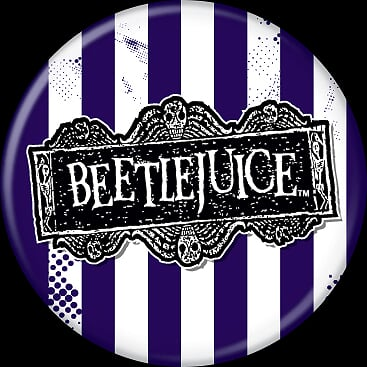 BEETLEJUICE - Logo Button-Button-1-82819-Classic Horror Shop