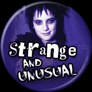 BEETLEJUICE - Lydia Strange and Unusual Button-Button-1-82817-Classic Horror Shop