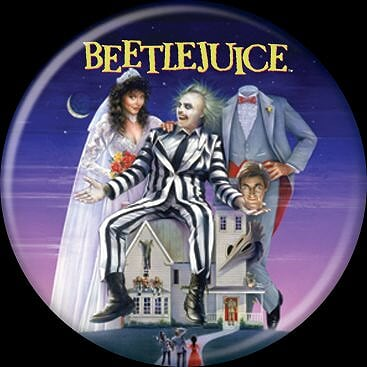 BEETLEJUICE - Poster Button-Button-1-87205-Classic Horror Shop