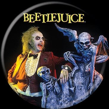 BEETLEJUICE - Here Lies Button-Button-1-87204-Classic Horror Shop