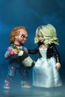 "BRIDE OF CHUCKY - Chucky & Tiffany 7"" Scale Action Figure-NECA-3-42114-Classic Horror Shop"