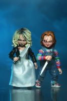 "BRIDE OF CHUCKY - Chucky & Tiffany 7"" Scale Action Figure-NECA-5-42114-Classic Horror Shop"