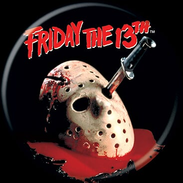 FRIDAY THE 13TH - Logo Mask Button-Button-1-84197-Classic Horror Shop