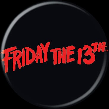 FRIDAY THE 13TH - Small Logo Button-Button-1-84201-Classic Horror Shop