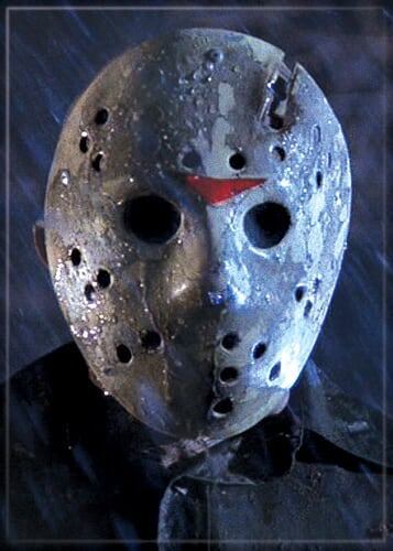 FRIDAY THE 13TH - Jason Mask On Blue Magnet-Magnet-1-71438M-Classic Horror Shop