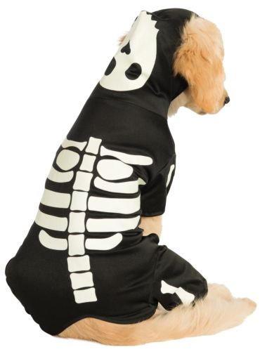 Glow-In-The-Dark Skeleton Pet Hoodie-Pet Costume-2-Classic Horror Shop
