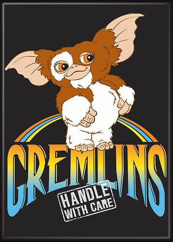 GREMLINS - Gizmo Handle With Care Magnet-Magnet-1-20801GR-Classic Horror Shop