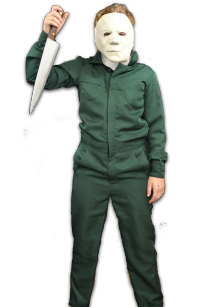 HALLOWEEN II: Michael Myers Child's Deluxe Coveralls With Mask-Costume-TTUS129-Classic Horror Shop