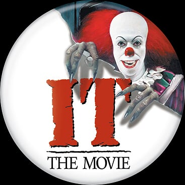 IT 1990 - Pennywise Logo Button-Button-1-85757-Classic Horror Shop