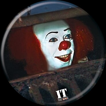 IT 1990 - Pennywise Sewer Button-Button-1-85755-Classic Horror Shop