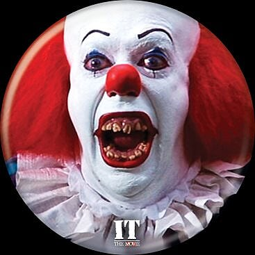 IT 1990 - Pennywise Teeth Button-Button-1-85756-Classic Horror Shop