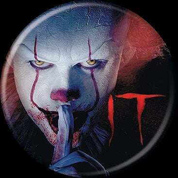 IT 2017 - Pennywise Shhh Button-Button-1-86749-Classic Horror Shop