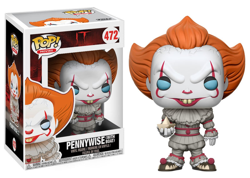 IT 2017 - Pennywise With Boat Pop! Vinyl Funko-Funko-1-20176-Classic Horror Shop