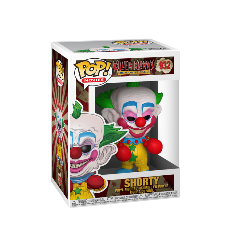 This is a Killer Klowns From Outer Space Pop Funko vinyl box number 932 of Shorty.