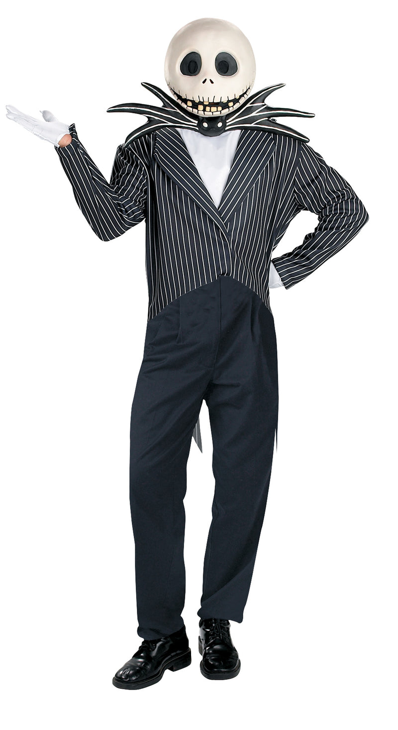 NIGHTMARE BEFORE CHRISTMAS - Adult Men's Deluxe Jack Skellington Costume-Costume-1-DG-5761-Classic Horror Shop