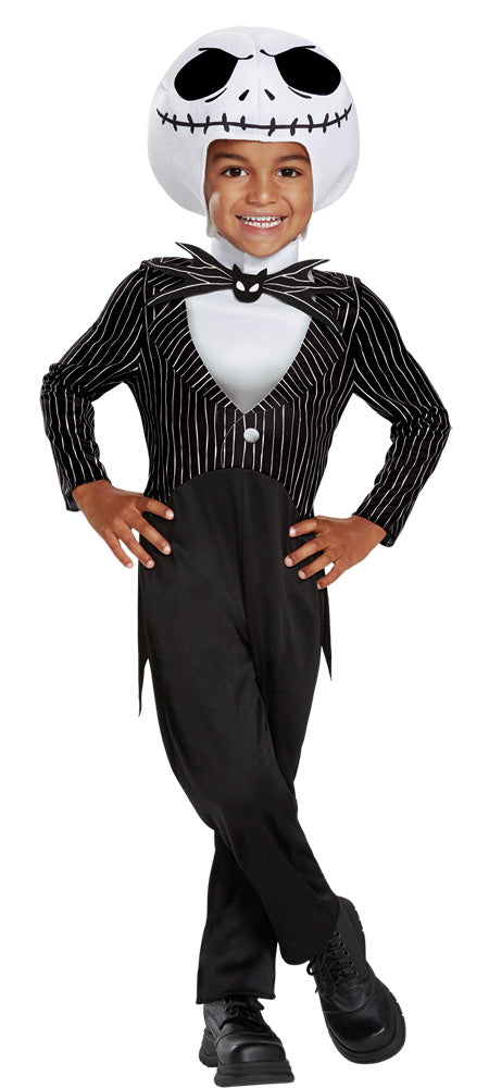NIGHTMARE BEFORE CHRISTMAS - Toddler Jack Skellington Costume 3T-4T-Costume-1-DG-79506M-Classic Horror Shop