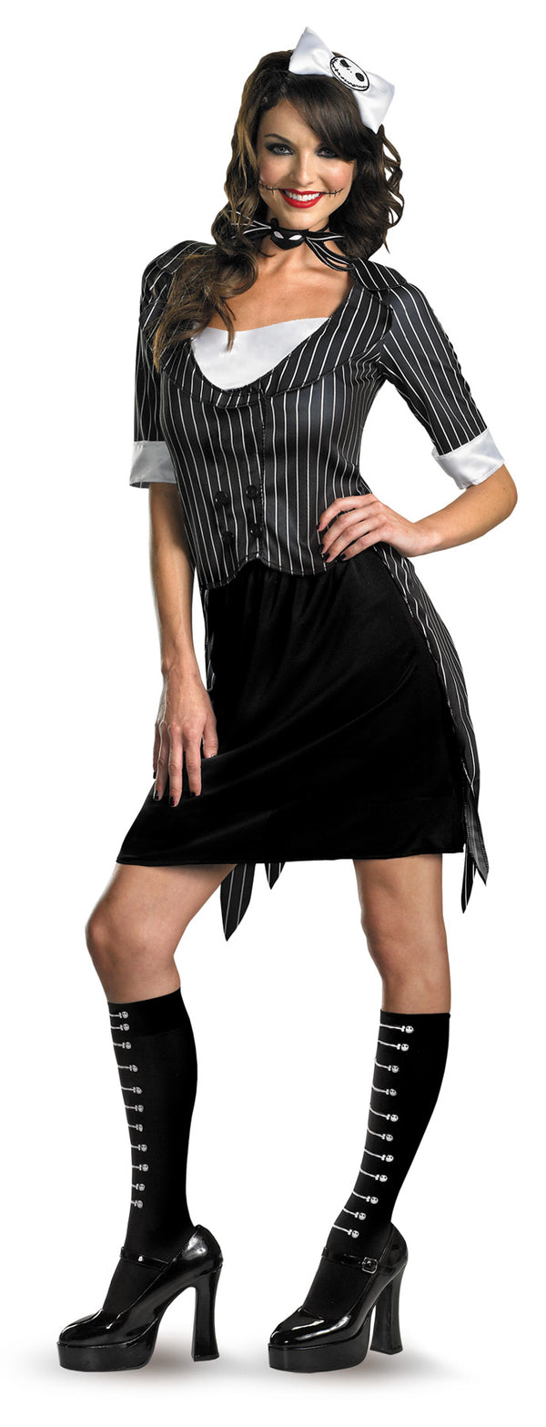 NIGHTMARE BEFORE CHRISTMAS - Adult Women's Jack Skellington Costume-Costume-1-Classic Horror Shop