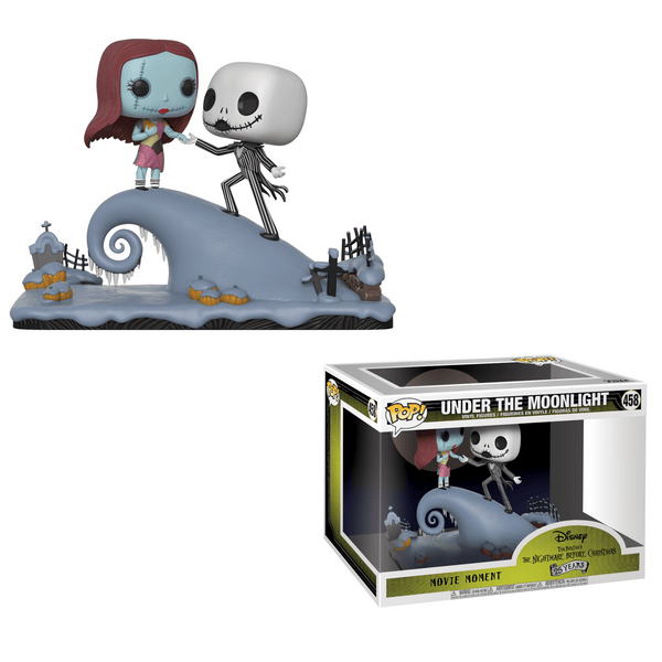 THE NIGHTMARE BEFORE CHRISTMAS - Jack and Sally Under the Moonlight Pop! Movie Moments-Funko-32834-Classic Horror Shop