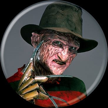 A NIGHTMARE ON ELM ST - Freddy Krueger Grey Button-Button-1-84203-Classic Horror Shop