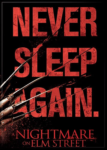 A NIGHTMARE ON ELM ST - Freddy Krueger Never Sleep Again Magnet-Magnet-1-71431M-Classic Horror Shop