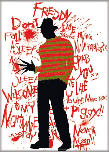 A NIGHTMARE ON ELM ST - Freddy Krueger Words Magnet-Magnet-1-71428M-Classic Horror Shop