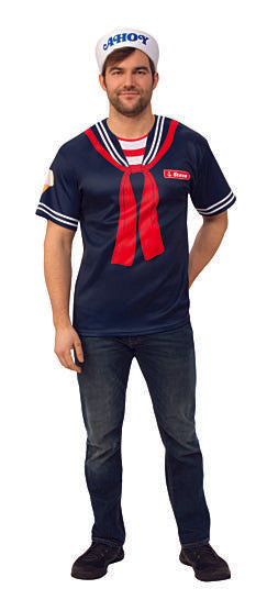 STRANGER THINGS - Adult Steve Scoops Ahoy Outfit-Costume-1-Classic Horror Shop