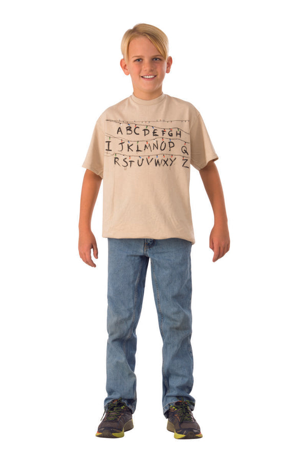 STRANGER THINGS - Child's Alphabet Shirt Large-T-shirt-1-700036-Classic Horror Shop