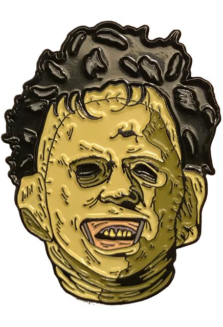 THE TEXAS CHAINSAW MASSACRE - 1974 Leatherface Enamel Pin-Enamel Pin-1-BXRL100-Classic Horror Shop