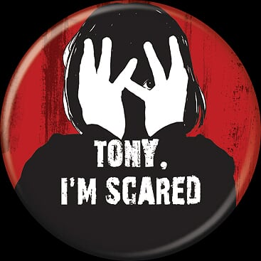 THE SHINING - Tony I'm Scared Button-Button-1-85813-Classic Horror Shop
