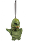 This is a Universal Monsters Creature From the Black Lagoon ornament that is a green monster with big lips, scales and a ribbon hanger.