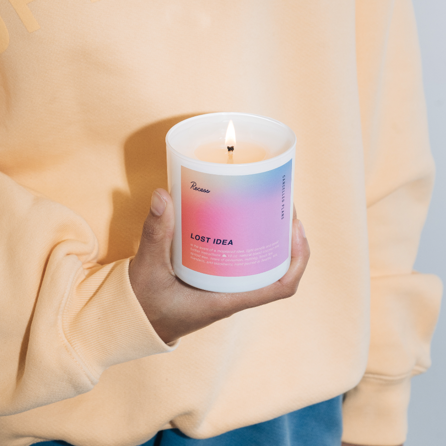 'LOST IDEA CANDLE' RECESS X CANCELLED PLANS