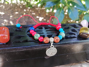 Abundance, Good Luck and Prosperity Amulet Talisman Handmade Braided Bracelet - LifeIsPureMagic