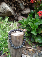 Power of Healing Black Lava Stone Flexible Talisman Bracelet - LifeIsPureMagic