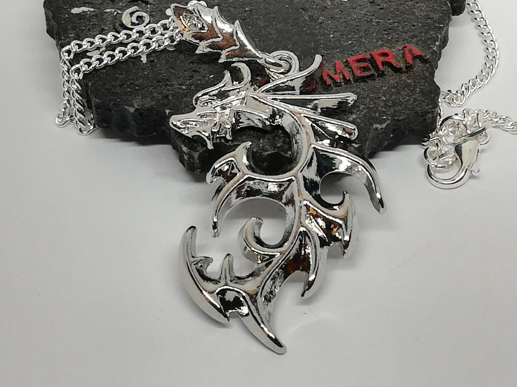 Dragon Pendant Silver 925 Necklace for Abundance Prosperity and Good Luck - LifeIsPureMagic