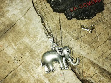 Power and Strength Elephant Silver 925 Talisman Necklace - Feng Shui Jewelry- Good Luck Necklace - Fertility Jewelry - LifeIsPureMagic