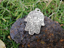 Complete Protection Hamsa Fatima's Hand Silver 925 Talisman Necklace - LifeIsPureMagic