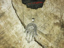 Good Vibes Protection Hamsa Fatima's Hand Silver 925 Talisman Necklace - Anti Anxiety Jewelry - Positive Gift - LifeIsPureMagic