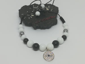 Unique Handmade Braided Bracelet Agate Hematite Stones Horus Eye - LifeIsPureMagic