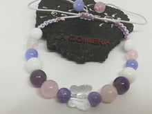 Unique Handmade Braided Bracelet Amethyst Agate Angelite Pink Quartz Natural Stones Crystal Butterfly Charm - LifeIsPureMagic