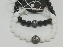 Set of Unique Handmade Braided Bracelet Agate Natural Stones Micro Pave Ball Charm - LifeIsPureMagic