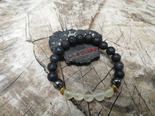Emotional Balance Willpower Volcanic Lava Quartz Stones Flexible Talisman Handmade Bracelet - LifeIsPureMagic