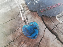 Kyanite Heart Stone Silver 925 Talisman Necklace Protection Meditation Spiritual Practice Yoga Gift - LifeIsPureMagic