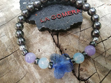 Handmade Flexible Bracelet Spiritual Manifest Clarity Opal Hematite Angelite Natural Stones Blue Butterfly Crystal - LifeIsPureMagic