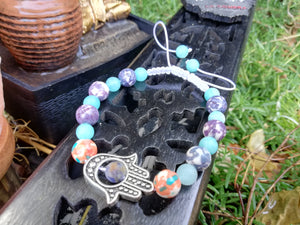 Handmade Braided Bracelet Sodalite Jade Amazonite Natural Stones Detox Jewelry - LifeIsPureMagic