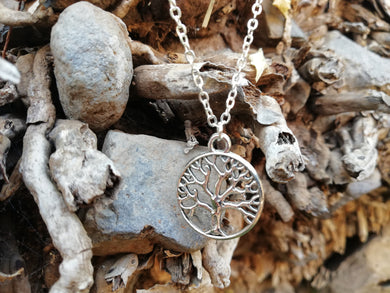 Abundance and Wisdom Tree of Life Necklace Talisman - LifeIsPureMagic