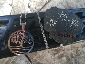 Statement Tree of Life Necklace Small Stone Stainless Steel Charm Talisman - Abundance and Protection Jewelry - Spiritual Amulet Gift - LifeIsPureMagic