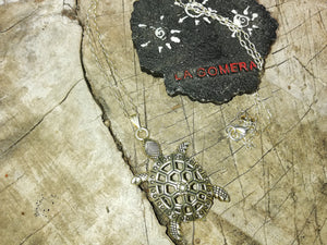 Power and Wisdom Turtle Silver 925 Talisman Necklace - Protection- Ocean Turtle- Energy Amulet - LifeIsPureMagic