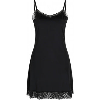 Close to my heart SLIP LACE slip dress Black