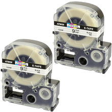 Load image into Gallery viewer, Prestige Cartridge™ Compatible AT9KW ST9KW Black on Clear Label Tapes (9mm x 8m) for LabelWorks Printing Machines - Prestige Cartridge